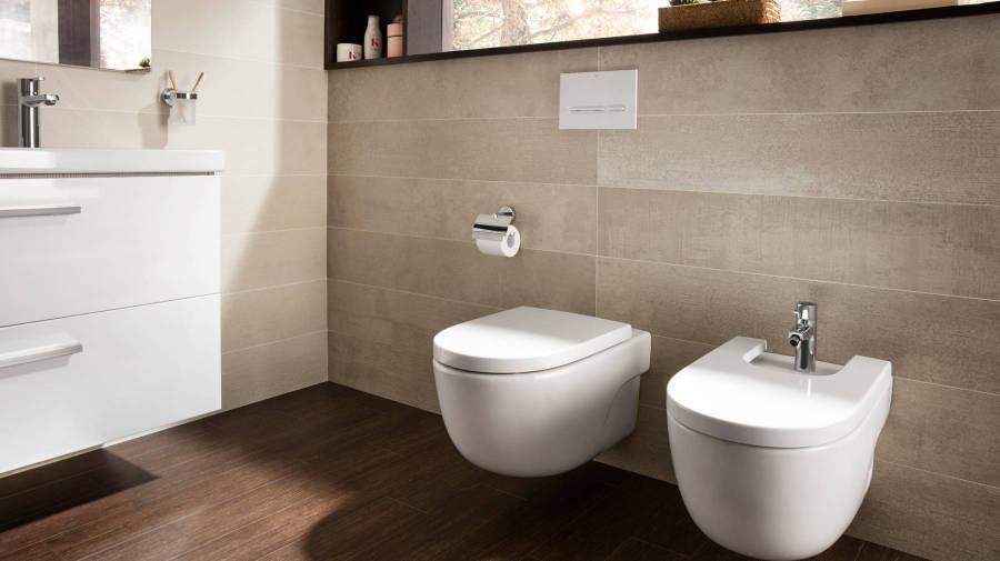 Окачена тоалетна и биде Meridian от Roca